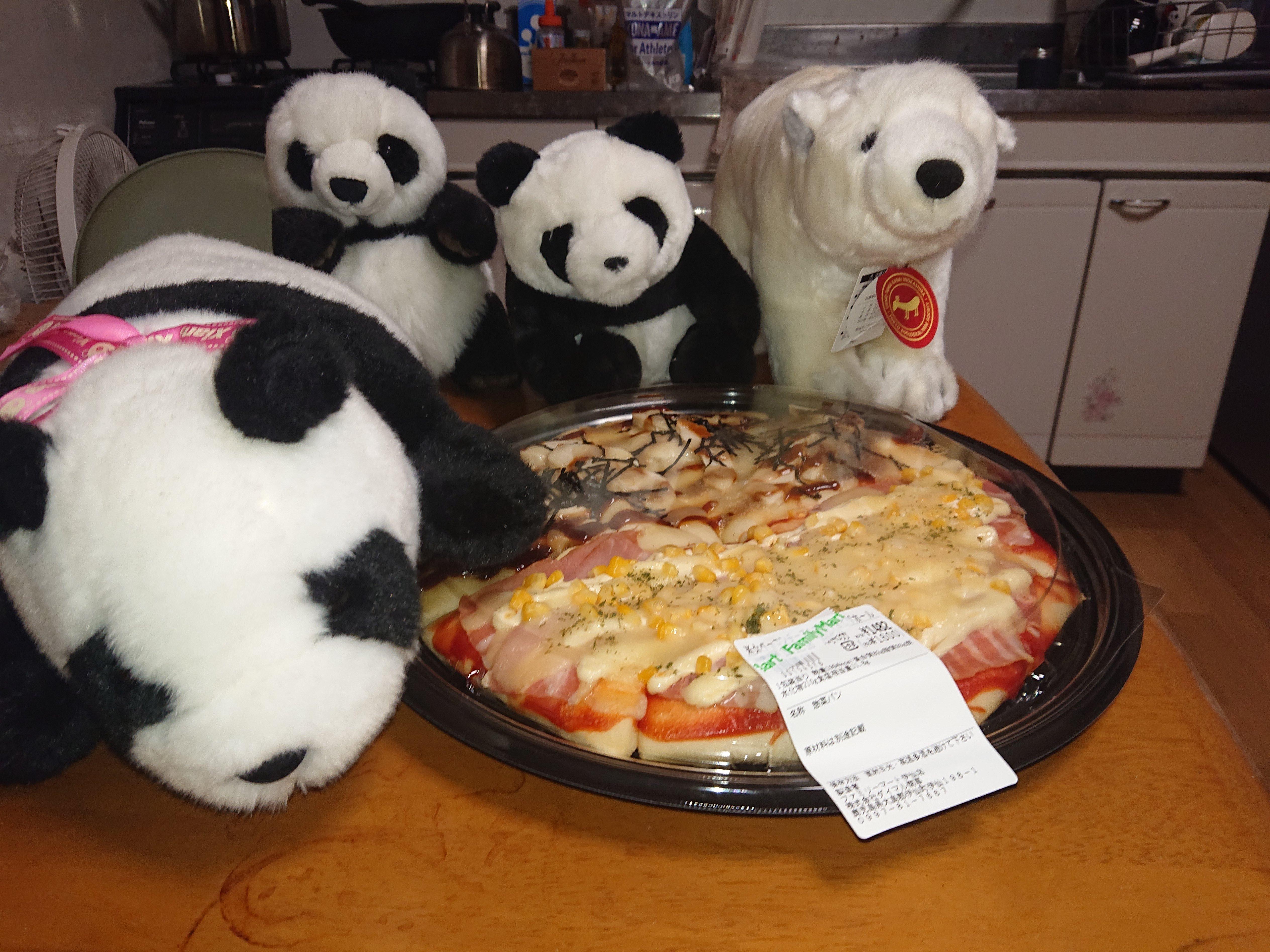 ピザ+動物たち